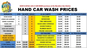 Carwash-Prices